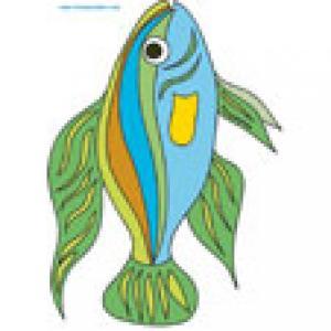 Image poisson multicolre à bandes