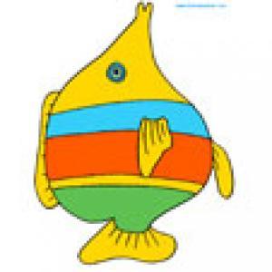 Poisson raye, une image de poisson a rayures