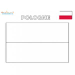 Coloriage du drapeau de la Pologne