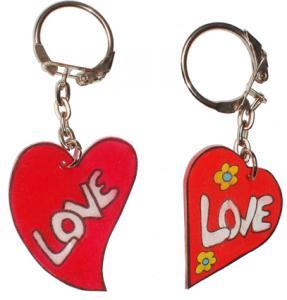 Porte-clés love en forme de coeur