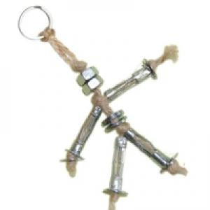Porte clés bonhomme métallique