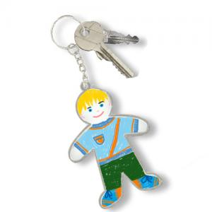 Porte-clés silhouette d'enfant