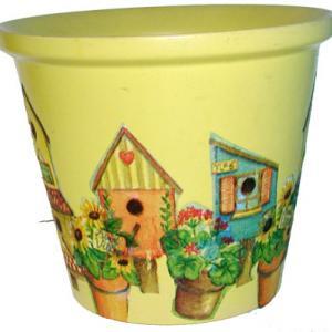 Cache pot décoré
