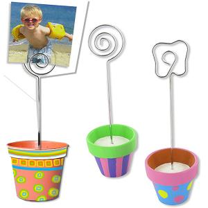 Petits pots à clip peints et décorés