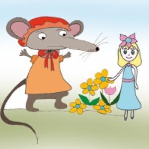 Poucette chez la souris