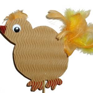 Briclage pour fabriquer une poule pour les décorations de Pâques