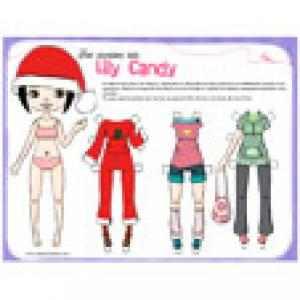 Paper doll lily candy à imprimer