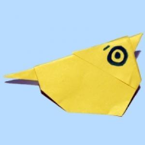 Poussin en papier origami