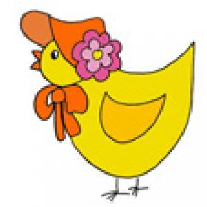 Image de Pâques : le poussin dessin 33