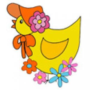 Image de Pâques : image 35 du poussin au chapeau