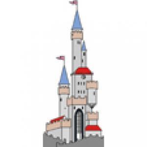 Le chateau de la princesse pour le gâteau princesse