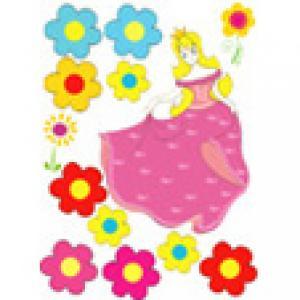 La princesse en robe rose pour le gâteau de princesse