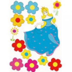la princesse en robe bleue pour le gâteau de princesse