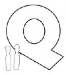 Colorie le Q de l'alphabet comme QUILLE