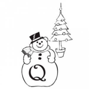 Coloriage alphabet bonhomme de Noël