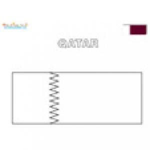 Coloriage du drapeau du Qatar