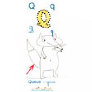 Imagier 2 : Apprendre et lire le Q comme Queue