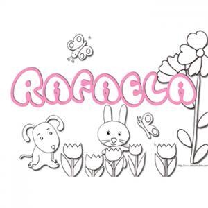 Coloriage prénom Rafaëla