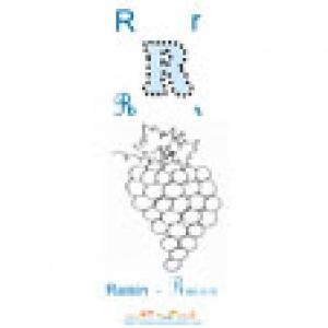 Imagier 2 : lire, Apprendre la lettre R comme raisin