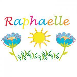 Coloriage prénom Raphaëlle