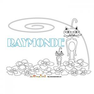 Coloriage prénom Raymonde