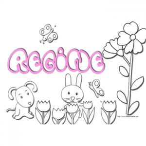 Coloriage prénom Regine