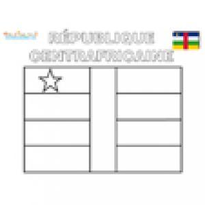 Coloriage du drapeau de la République Centrafricaine