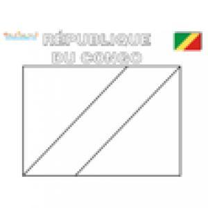 Coloriage du drapeau de la République du Congo