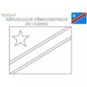 Coloriage du drapeau de la République Démocratique du Congo