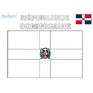 Coloriage du drapeau de la République Dominicaine