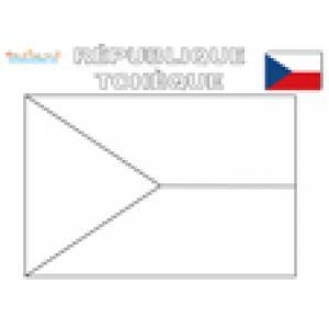 Coloriage du drapeau de la République Tcheque