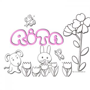 Coloriage prénom Rita
