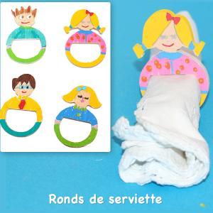 Ronds de serviette pour la famille