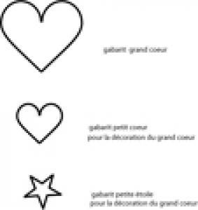 Imprimer les gabarits : coeurs et étoile