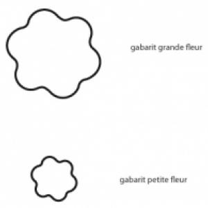 Imprimer les gabarits : fleur