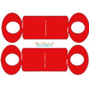 Rond de serviette rouge en forme de noeud à imprimer