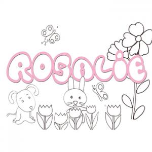Coloriage prénom Rosalie