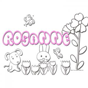 Coloriage prénom Rosanne