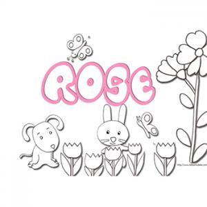 Coloriage prénom Rosine