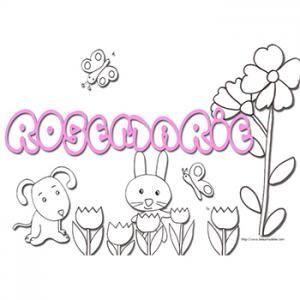 Coloriage prénom Rose