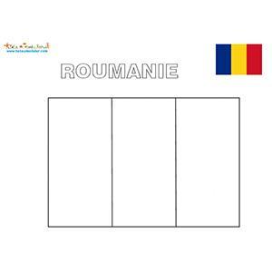 Roumanie : coloriage du drapeau roumain