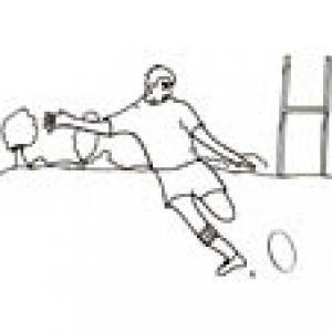 Rugby : coloriage d'un joueur de rugby
