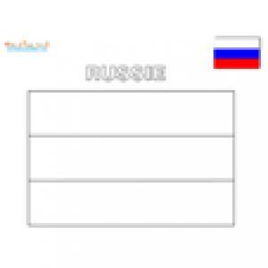 Coloriage du drapeau de la Russie