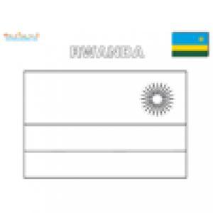Coloriage du drapeau du Rwanda