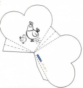 Panier de Pâques Cotcot à colorier