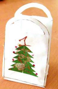 Mini sac cadeau Noël
