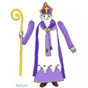 Grand modele de paper toy saint Nicolas