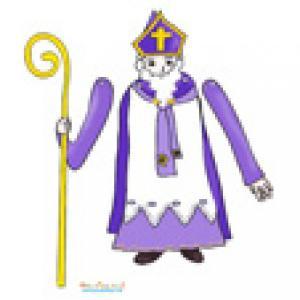 Petit saint Nicolas pour faire un paper toy animé
