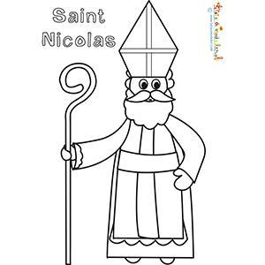 Saint Nicolas, un dessin à colorier