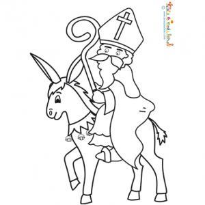 Saint Nicolas monté sur son âne